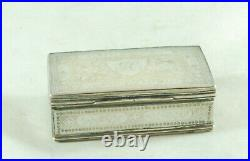 Antique Chinese Silver & MOP Snuff Box 5.2cm x 3.3cm CZX