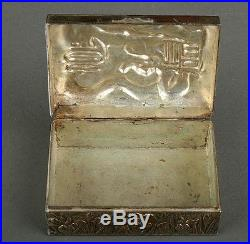Antique Chinese Silver Plated Box, Circa 1900