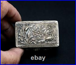 Antique Chinese Silver Snuff Box French Fla Market Find