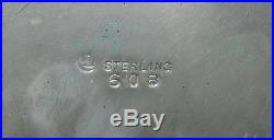 Antique Chinese Silver Sterling Cigar Box Spinach Jade Toggle Carving Dog Marked