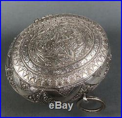 Antique Chinese Silver Straits Tobacco Box or Chelpa Malaysia 19thc
