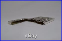 Antique Chinese Solid Silver Dragon Bamboo Card Case