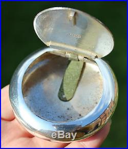 Antique Chinese Solid Silver Squeeze Floral Tobacco Box (R806)