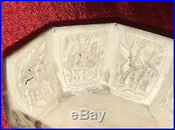 Antique Chinese Sterling Silver Box-Dragons, Lotus, Birds
