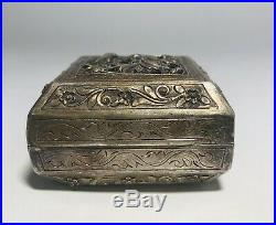 Antique Chinese Straits Silver Box Mother Of Pearl Vietnam