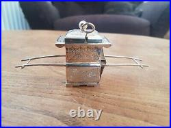 Antique Chinese hallmarked Silver Mustard Pot Carriage
