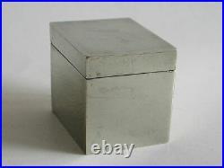 Antique Chinese square opium box (5551)