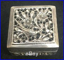 Antique Chinese sterling silver small box