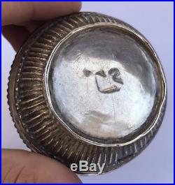 Antique Old Chinese Tibetan THAI CAMBODIAN BURMESE Silver Potpourri Box 62.2 Gr