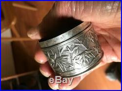 Antique Qing Dynasty Really Fine Chinese Silver Box Birds And Bamboo Decorate