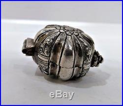 Antique Silver Detachable Tobacco Box (chelpa), Chinese Straits, Malaysia, 19th C