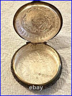 Antique Silver Small Pill/Snuff Box