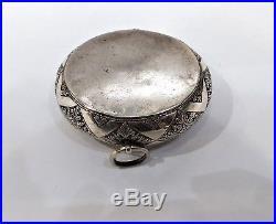 Antique Silver Tobacco Box (chelpa), Birds, Chinese Straits, Malaysia, 19th C