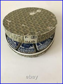 Antique Silver and Porcelain Chinese Trinket Box Set