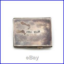 Antique Vintage Art Deco Sterling Silver Chinese Jadeite Jade Pillbox Snuff Box