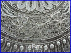 Beautiful Vintage/antique Chinese Silver Filigree Covered Box, Tested Sterling