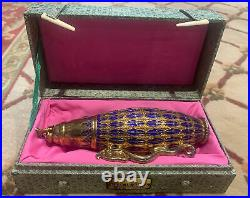 CHINESE EXPORT Goldfield SOLID SILVER Hand Made Vase With Box
