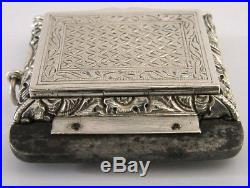 CHINESE EXPORT SILVER TINDER BOX VESTA CASE c1840 RARE ANTIQUE