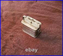 CHINESE Silver Antique Rectangular Lidded/Handled BOX Floral Engraving Marked CS