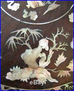 COFFRET BOITE PALISSANDRE MARQUETERIE DE NACRE Chine XIX° chinese silver box