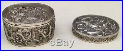 Chinese 19th Century Sterling Silver Box, Signed