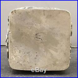 Chinese 19th Century Sterling Silver Pill Box
