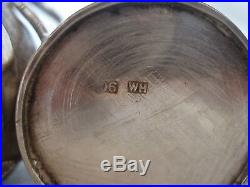 Chinese 5 Piece Cruet Set Sterling Silver Wang Hing Circa 1900