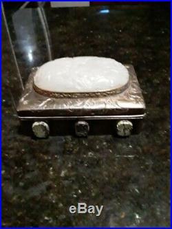 Chinese Ancient Silver Jade Box