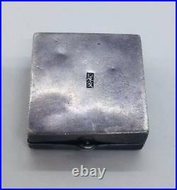 Chinese Antique Sterling Silver Lady On Dragon Pill Box