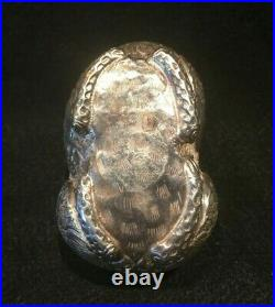 Chinese Cambodian Asian Repousse Silver Foo Dog Lion Betel Nut Box 3.12 ozt #3