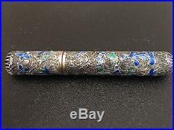 Chinese Cloisonné Enamel Silver Case Box