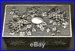 Chinese Export Silver Box 1000 BUTTERFLY