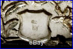 Chinese Export Silver Box Card Case c1875 KWAN WO FIGURES IN GARDEN