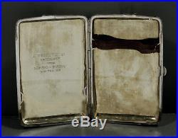 Chinese Export Silver Box Dragon Cigar Case c1880 WANG HING