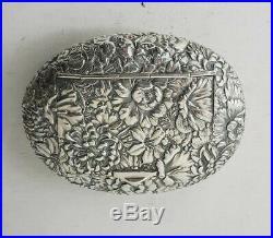 Chinese Export Silver Box Hong Kong GYMKHANA 1903
