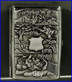 Chinese Export Silver Box Vinegarette c1820 Cumshing