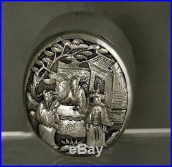 Chinese Export Silver Box WANG HING TAX COLLECTOR