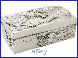 Chinese Export Silver Box by Kuhn & Kormor Antique Circa 1900