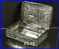 Chinese Export Silver Box c1890 SIGNED