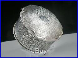 Chinese Export Silver Box of Circular Form, c. 1920 possibly Luen Wo