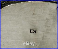 Chinese Export Silver Cheroot Case Box c1840 KC RARE MAKER