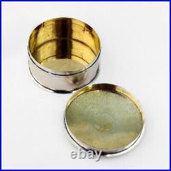 Chinese Export Silver Round Box Siu Kee Hong Kong 1900