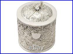 Chinese Export Silver Tea Caddy Antique Circa 1890