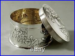 Chinese Export Silver Tea Caddy Tea Box c1890 Signed