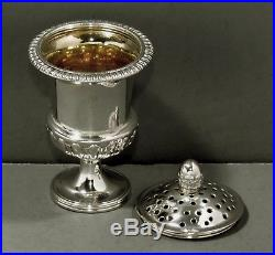 Chinese Export Sterling Silver Caster c1825 MAKER P' CANTON