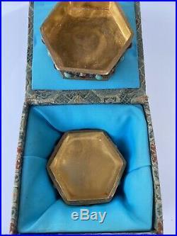 Chinese Gilt Silver Jade Mounted Jeweled Snuff Box, Filigree Texture