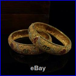 Chinese Qing Dynasty Palace collection Tibetan silver bracelet + Box