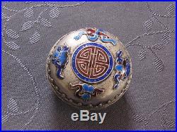 Chinese Silver Box Enamel Boite En Alliage D Argent Asie Chine
