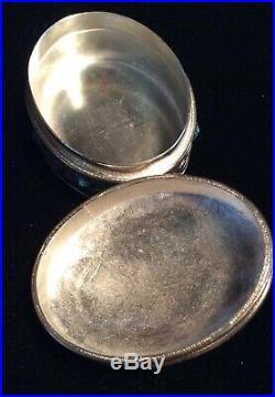 Chinese Silver, Enamel, and Malachite Oval Box