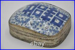 Chinese Silver/Silver plate Box with Porcelain Lid